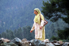 Kashmiri woman Stock Photo