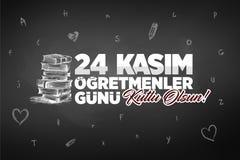 24 Kasim, Listopadu 24th nauczycieli Turecki dzień royalty ilustracja
