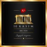 10 November, Mustafa Kemal Ataturk Death Day anniversary. 10 kasim vector illustration. & x28;10 November, Mustafa Kemal Ataturk Death Day anniversary.& x29 royalty free illustration