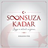 10 November, Mustafa Kemal Ataturk Death Day anniversary. 10 kasim vector illustration. (10 November, Mustafa Kemal Ataturk Death Day anniversary.&#x29 stock illustration
