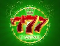kasino 777 vektor illustrationer