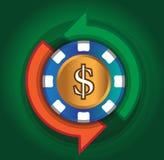 Kasino-Austausch-Dollar Lizenzfreie Stockbilder
