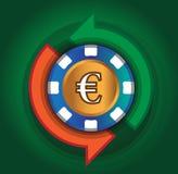 Kasino-Austausch-Euro Lizenzfreie Stockbilder