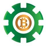 Kasino BitCoin-Design Stockbild