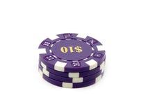 Kasino-Chips $10. Lizenzfreies Stockbild