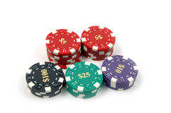 Kasino-Chips Stockfotografie