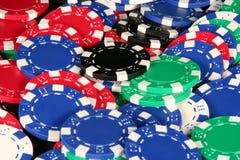 Kasino-Chips Lizenzfreie Stockfotografie