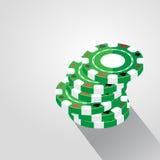Kasino Chips Pile Background, Vektor-Illustration Lizenzfreie Stockfotos