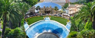 Kasino de Monte - carlo i spegel Fotografering för Bildbyråer
