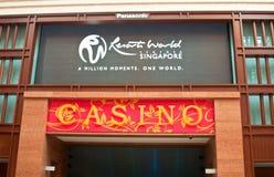 Kasino-Eingang und Slogan Stockfoto