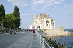 Kasino från Constanta, Rumänien arkivbilder