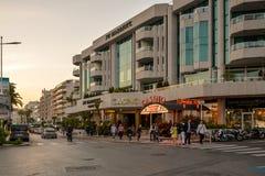 Kasino i Cannes Arkivbild