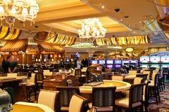 Kasino i det Bellagio hotellet i Las Vegas arkivbilder
