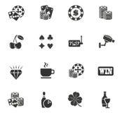 Kasino-Ikonen-Satz Stockbilder