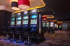 Kasino-Innenraum Lizenzfreie Stockbilder