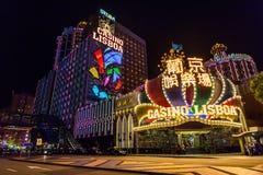 Kasino Lissabon in Macau Stockfoto