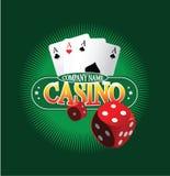 Kasino Logo Design Concept Stockfoto