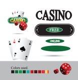 Kasino Logo Design Elements Stockfoto