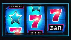 Kasino Lucky Slot Reels Stock Abbildung
