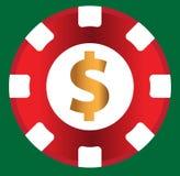 Kasino-Münzen-Design Lizenzfreie Stockfotos