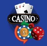 Kasino-Münzen-Design Stockfoto