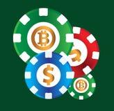 Kasino-Münzen-Design Stockbild