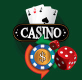 Kasino-Münzen-Design Stockfotografie