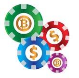 Kasino-Münzen-Design Lizenzfreie Stockbilder