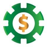 Kasino-Münzen-Design Stockbilder