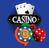 Kasino-Münzen-Design Lizenzfreies Stockfoto