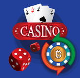 Kasino-Münzen-Design Lizenzfreies Stockbild