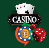 Kasino-Münzen-Design Lizenzfreie Stockfotografie