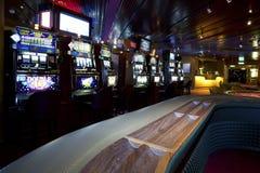 Kasino med enarmad bandit Fotografering för Bildbyråer