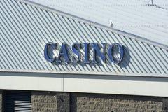 Kasino på den Brighton marina. England Arkivbilder