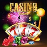Kasino-Partei-Vektor lizenzfreie abbildung
