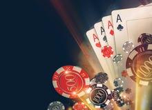Kasino-Poker Chips Backdrop Lizenzfreie Stockfotos