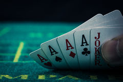 Kasino-Pokerbild Lizenzfreie Stockbilder