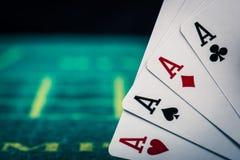Kasino-Pokerbild Stockfoto