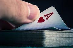 Kasino-Pokerbild Stockfotos