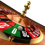 Kasino-Roulette auf Weiß Lizenzfreies Stockfoto