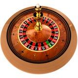 Kasino-Roulette auf Weiß Lizenzfreies Stockbild
