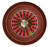 Kasino-Roulette. Draufsicht. Lizenzfreie Stockfotografie