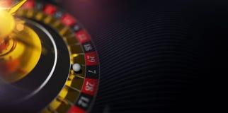 Kasino-Roulette-Fahne Stockbild