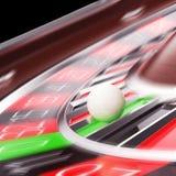 Kasino-Roulettenahaufnahme in der Bewegung Stockbilder