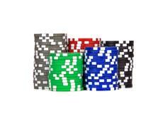 Kasino-/Schürhaken-/Spielchips Stockfotos