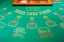 Kasino-Schürhaken-Tabelle Stockfotos