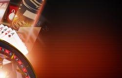 Kasino-Spiel-Hintergrund-Konzept Lizenzfreies Stockbild