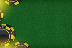 Kasino-Spiel-Kopien-Raum Lizenzfreies Stockbild