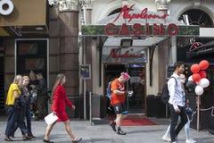 Kasino und Restaurant Napoleons auf Leicester-Quadrat Es ist für über 25 Jahre in Kraft gewesen, und es rühmt sich des Seins das  Stockfotos