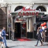 Kasino und Restaurant Napoleons auf Leicester-Quadrat Es ist für über 25 Jahre in Kraft gewesen, und es rühmt sich des Seins das  Lizenzfreies Stockbild